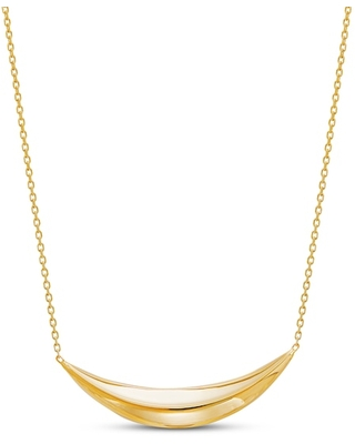 Jared The Galleria Of Jewelry Italia D'Oro Curved Bar Necklace 14K Yellow Gold