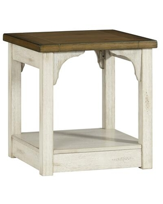 T540-04 End Table in Oak and Antique