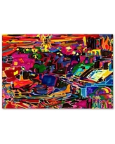 """Trademark Art 'Fire in the Arcade' Graphic Art Print on Wrapped Canvas ALI5587-C Size: 19"""" H x 14"""" W x 2"""" D"""