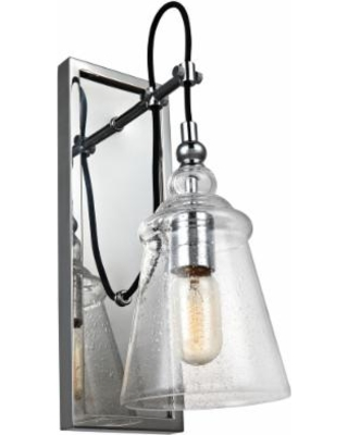 """Feiss Loras 17"""" High Chrome Wall Sconce"""