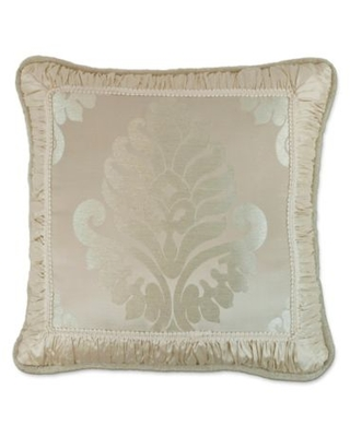 Austin Horn Classics Jacqueline Framed Square Throw Pillow in Cream