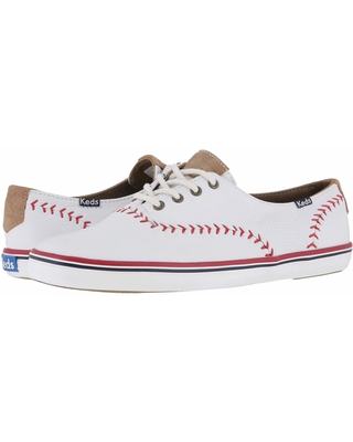 Keds Champion Leather Pennant (White Leather) Women's Lace up casual Shoes