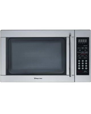 Magic Chef 1.3 Cu. Ft. 1000W Countertop Microwave Oven, Stainless Steel