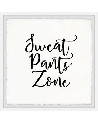 "Wrought Studio 'Sweat Pants Zone III' Frame Textual Art W001004425 Size: 32"" H x 32"" W x 1.5"" D"