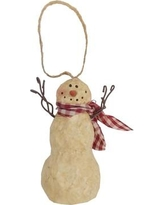 Craft Outlet Snowman with Scarf Ornament 30249X