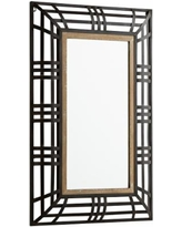 """Cyan Design Banded Out Bronze 24"""" x 36"""" Wall Mirror"""