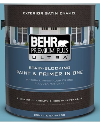 BEHR ULTRA 1 gal. #S460-4 Snowboard Satin Enamel Exterior Paint and Primer in One