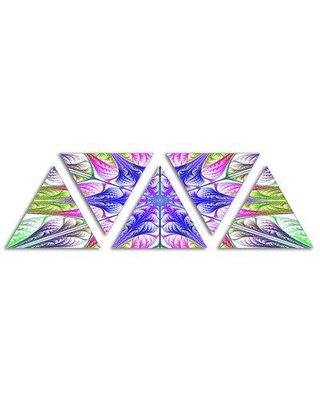 East Urban Home 'Extraordinary Fractal Light Green Art' Graphic Art Print Multi-Piece Image on Wrapped Canvas FTUR2774
