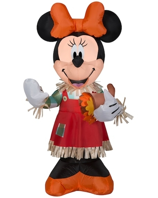 3.5Ft Airblown® Inflatable Disney Minnie Holding Cornucopia By Gemmy Industries | Michaels®