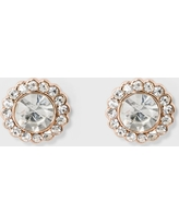 Pave Flower Stud Earrings - A New Day Rose Gold