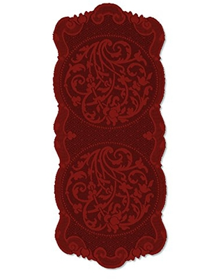 """Heritage Lace Rondeau Table Runner, 33""""x14"""", Paprika"""