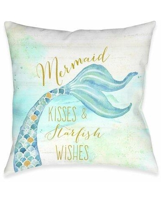Highland Dunes Mcmeans Mermaid Kisses Throw Pillow W002481498 Location: Indoor