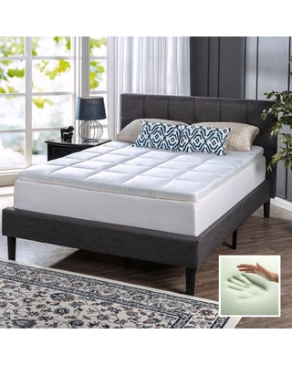 "Spa Sensations Comfort Bliss Memory Foam and Fiber Quilted 3"" Mattress Topper, Queen"