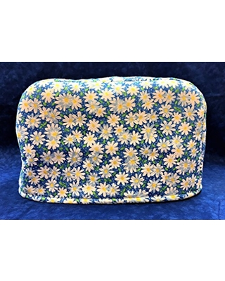 4 Slice Slot White Yellow Daisy Daisies on Blue Reversible Kitchen Appliance Toaster Dust Cover Cozy 11.5(l) x 7.5(h) x 11.5(w)