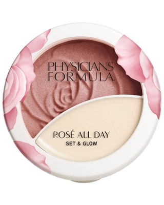 Physicians Formula Rose All Day Set & Glow - Brightening Rose - 0.32oz