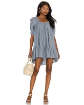 Free People Amelie Mini Dress in Blue. - size XS (also in M)
