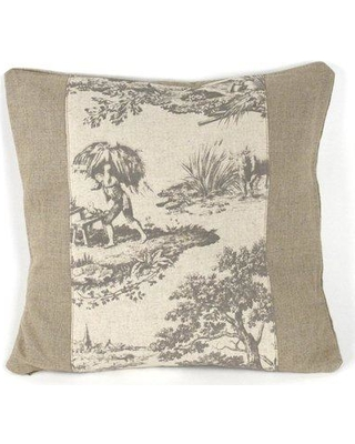 Zentique French Inspired Toile Linen Throw Pillow N034