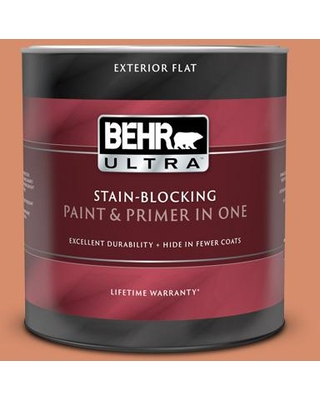 Check Out Deals On Behr Ultra 1 Qt Mq4 38 Balcony Sunset Flat Exterior Paint And Primer In One