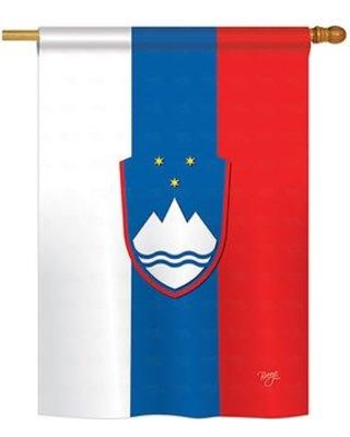 "Breeze Decor Slovenia 2-Sided Vertical Flag 58196 Size: 40"" H x 28"" W"