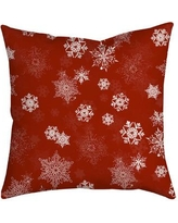 SafiyaJamila Holiday Treasures Throw Pillow UltiSnow_ Color: Red