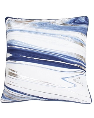 Thro by Marlo Lorenz Grisaille Kia Marble Raised Foil Pillow, Grisalle Gold