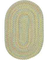 Play Date Lime Multi 8 ft. x 11 ft. Oval Indoor/Outdoor Braided Area Rug