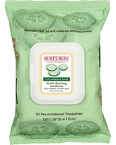 Burt's Bees Facial Cleansing Towelettes - 30 ct, Cucumber And Sage