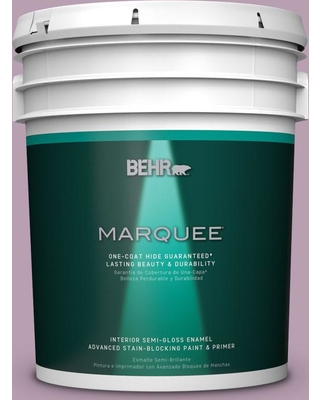 BEHR MARQUEE 5 gal. #S110-4 Highland Thistle One-Coat Hide Semi-Gloss Enamel Interior Paint and Primer in One