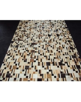 Modern Rugs Patchwork Disruption Neutral Area Rug patchw5-101 Rug Size: Square 4'