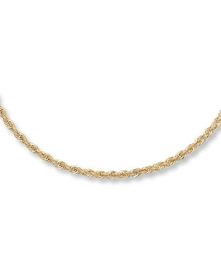 Jared The Galleria Of Jewelry Rope Necklace 14K Yellow Gold 16 Length