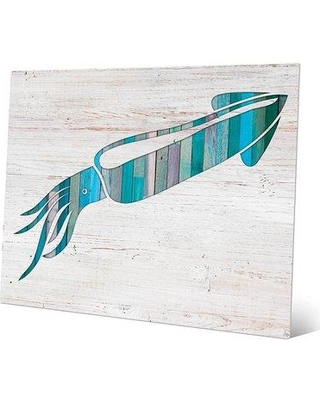 """Click Wall Art 'Squid' Graphic Art on Plaque BHS0000175MTL Size: 16"""" H x 20"""" W x 1"""" D"""