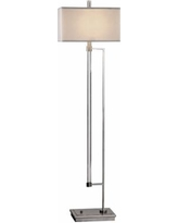 Uttermost Mannan Acrylic Rod and Polished Nickel Floor Lamp