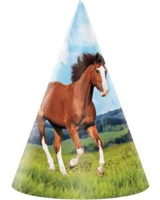 Wild Horse Party Hats, 24 Count