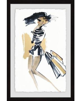"""Mercer41 'Shopping Luxe' Framed Acrylic Painting Print MCRF5409 Size: 36"""" H x 24"""" W"""