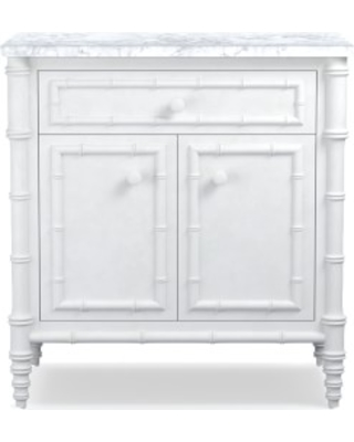 Hampstead Nightstand Marble Top White