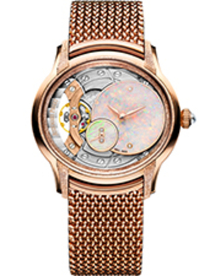 Audemars Piguet Millenary Frosted White Opal Dial Ladies 18kt Rose Gold Hand Wound Watch 77244OR.GG.1272OR.01
