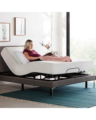 LINENSPA Motorized Head and Foot Incline-Quick and Easy Assembly-Queen Adjustable Bed Base, Black
