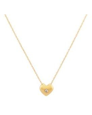 Belk & Co. Gold 1/10 ct. t.w. Diamond Heart Pendant Necklace in 10K Yellow Gold