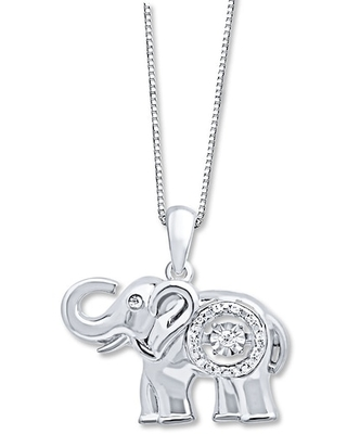 Jared The Galleria Of Jewelry Diamonds in Rhythm 1/20 ct tw Necklace Sterling Silver