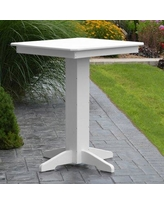"""Red Barrel Studio Neville Bar Table RDBL7327 Color: White Table Size: 33"""" L x 33"""" W"""