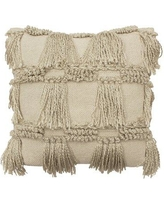 FrenchConnection Gannaway Decorative Cotton Throw Pillow W000983589 Color: Linen
