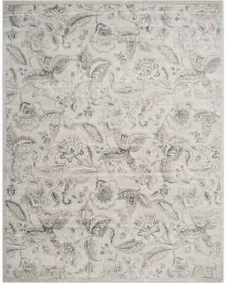 "Silver Floral Loomed Area Rug 6'7""x9'2"" - Safavieh, Size: 6'7"" X 9'2"""