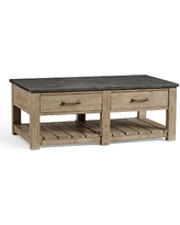 DEAL ALERT Parker Reclaimed Wood Coffee Table with Bluestone Top