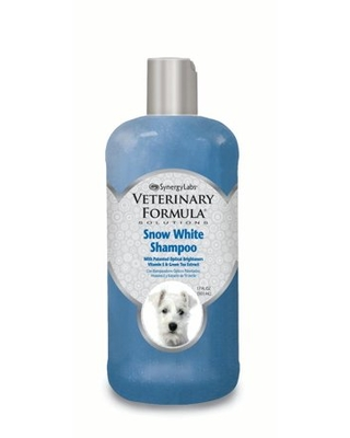 Veterinary Formula Solutions Snow White Shampoo for Dogs and Cats – Fresh Scent, 17 oz.