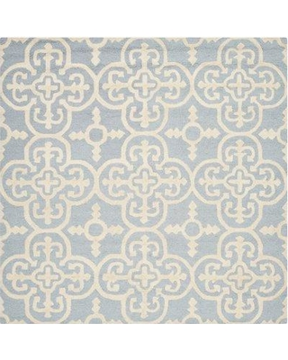 Ophelia & Co. Marlen Hand-Tufted Wool Light Blue/Ivory Area Rug OPCO5396 Rug Size: Square 6'