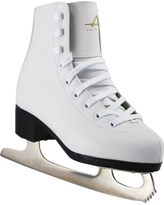 American Athletic Shoe Girls' Tricot Lined Figure Skates, White