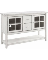 """""""52"""" Wood Console Table Buffet / TV Stand in Antique White - Walker Edison W52C4CTAWH"""""""