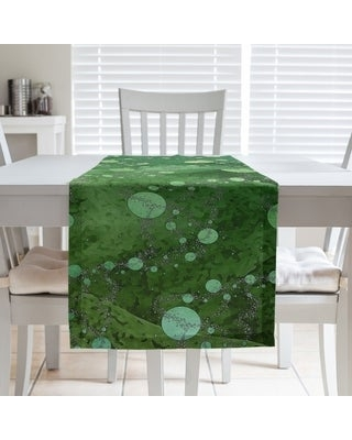Multicolor Planets & Stars Table Runner (16 x 72 - Polyester - Yellow & Green)