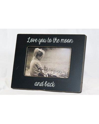 Winston Porter Perla Love You to the Moon and Back Wood Sentiment Picture Frame W001648978