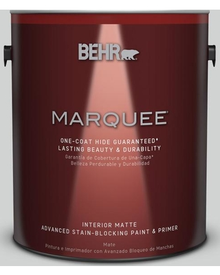 BEHR MARQUEE 1 gal. #PPU26-11 Platinum Matte Interior Paint and Primer in One, White